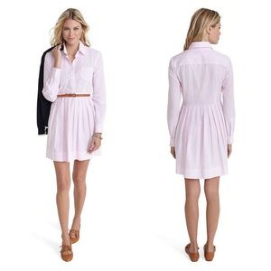 Brooks Brothers Pink Striped Pleated Dress size M